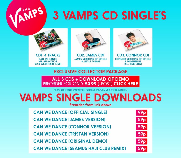 "THE VAMPS ""CAN WE DANCE"" 3CD"