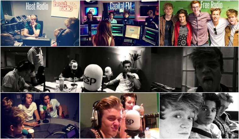 Le 26.09.13 : The Vamps à Capital FM, Free Radio, Heat Radio.....