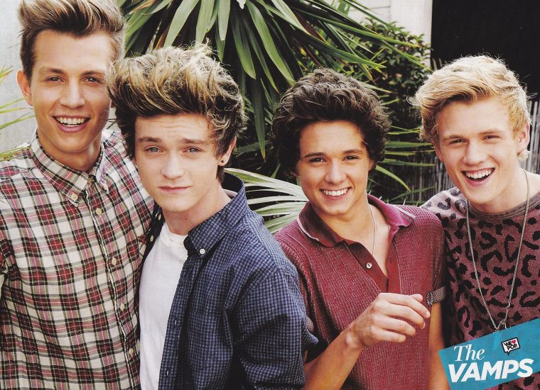 "Poster de The Vamps dans le magazine ""We ♥ Pop"""
