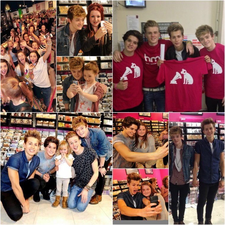 The Vamps au HMV à Birmingham (04.10.13)