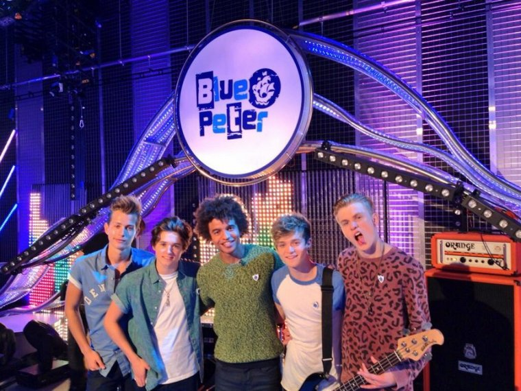 The Vamps dans l'émission Blue Peter