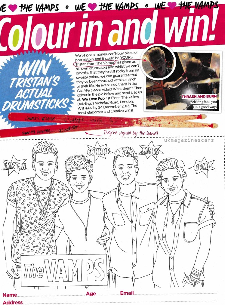 "Spécial The Vamps dans le Magazine ""We Love Pop"" (Novembre)"
