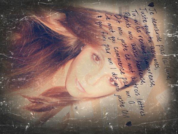 Amoureuse #chant#de#moi