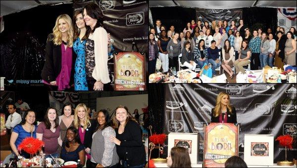 """15/02/2012: Sarah était présente à la """"Shower Operation"""" sponsorisée par Carousel Designs. Un look signé Sarah: Un jean noir, une jolie tunique, une veste et des belles chaussures comme toujours, TOP !"""