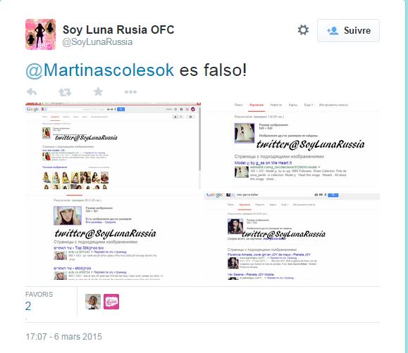 Martina Scoles est une Fake :( marre des filles qui se font passer pour des filles du cast