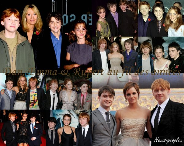 Flash-back - Daniel, Emma & Rupert au fil des années.