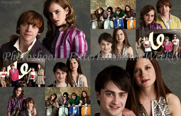 Flash-back - Photoshoot de Daniel, Rupert, Emma & Bonnie pour Entertainment Weekly.