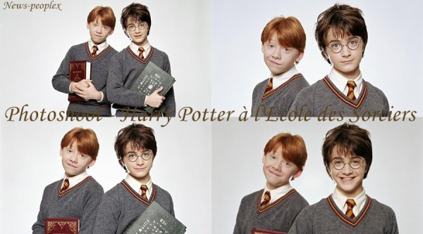 Flash-back - Photoshoot de Daniel & Rupert pour Harry Potter à l'Ecole des Sorciers.