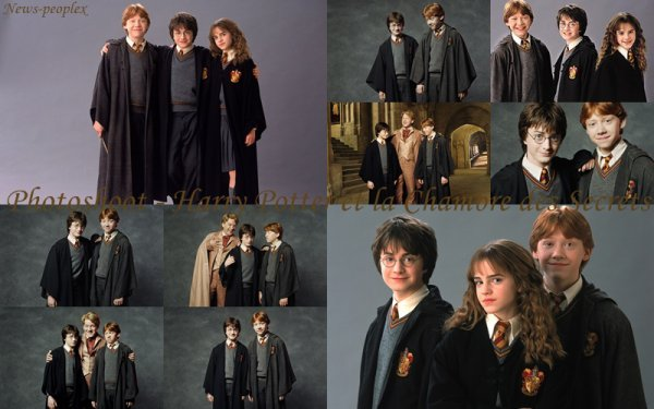 Flash-back - Photoshoot pour Harry Potter et la Chambre des Secrets.