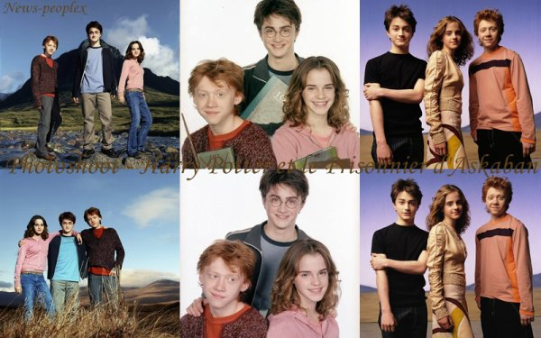 Flash-back - Photoshoot pour Harry Potter et le Prisionnier d'Askaban.