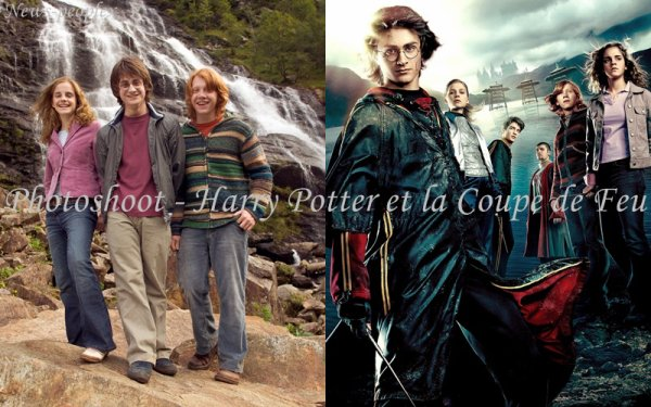 Flash-back - Photoshoot pour Harry Potter et la Coupe de Feu.