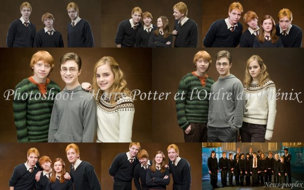 Flash-back - Photoshoot pour Harry Potter et l'Ordre du Phénix.