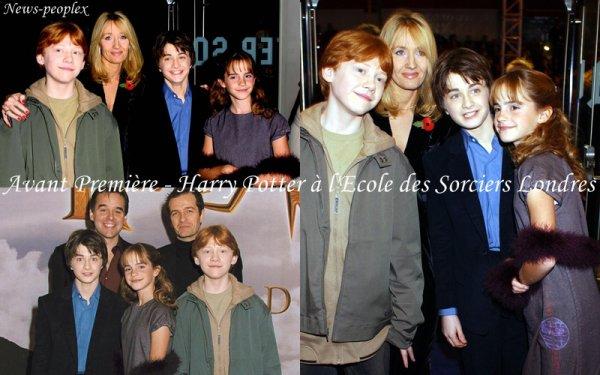 Flash-back - Avant Première Harry Potter à l'Ecole des Sorciers Londres.