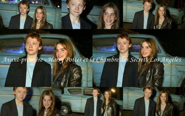 Flash-back - Avant Première Harry Potter et la Chambre des Secrets Los Angeles.