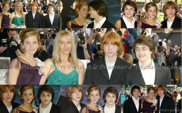 Flash-back - Avant Première Harry Potter et le Prisonnier d'Askaban Londres.