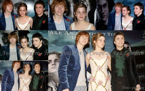 Flash-back - Avant Première Harry Potter et la Coupe de Feu Londres.