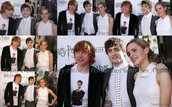 Flash-back - Avant Première Harry Potter et l'Ordre du Phénix Los Angeles.
