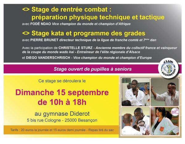 Stage International de Rentrée à Besançon