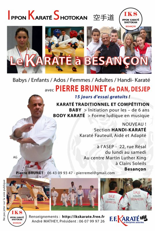 KARATE IKS : Rentrée IMMINENTE !!!