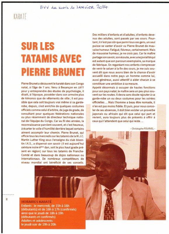 Pierre BRUNET sur la revue mensuelle BVV.