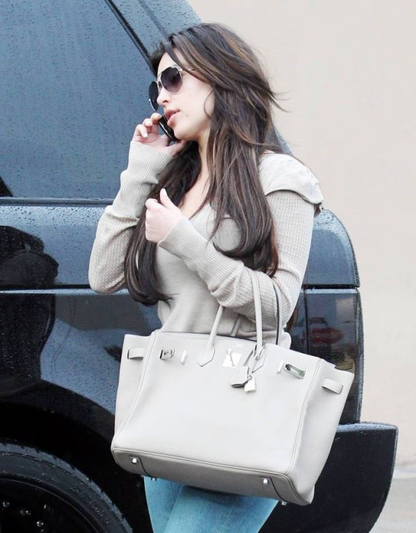 Kim pictured at Studio City