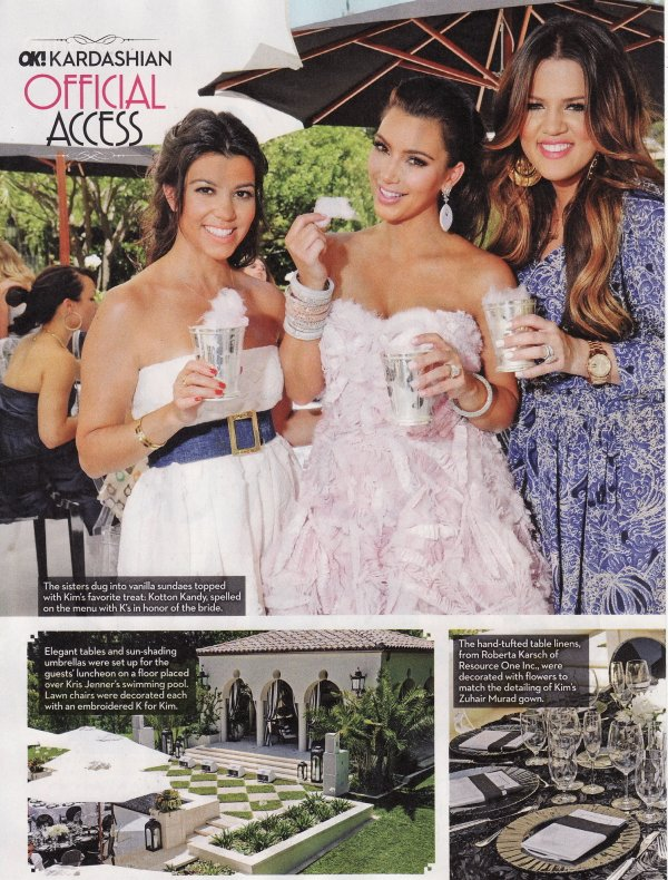 Inside Kim's bridal shower with OK! Magazine