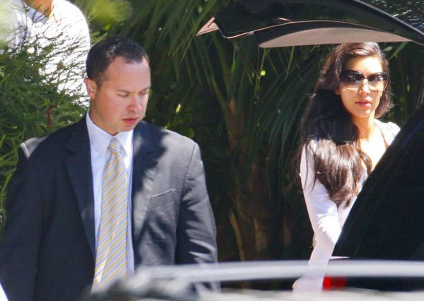Kim & Kris are seen leaving the Four Seasons hotel in Santa Barbara the day after their wedding (08/21)