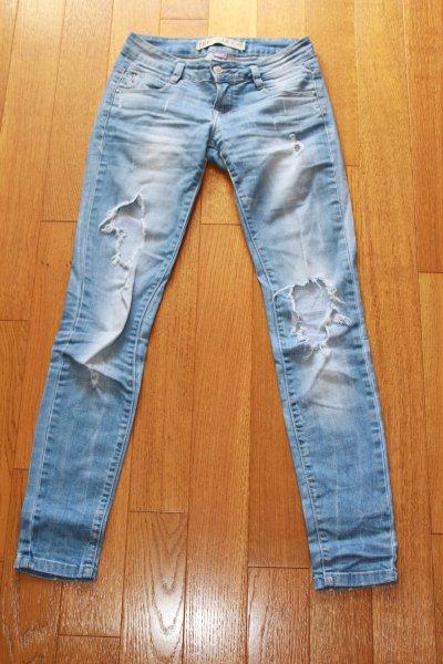 Jeans slim destroy zara, taille 36, 15e