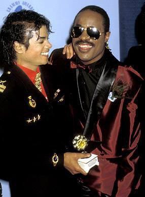 M.J & Stevie Wonder