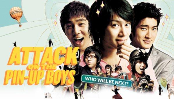 Fiche Dramas avec Siwon et les Super Junior Attack On The Pin-Up Boys 26 Juillet 2007