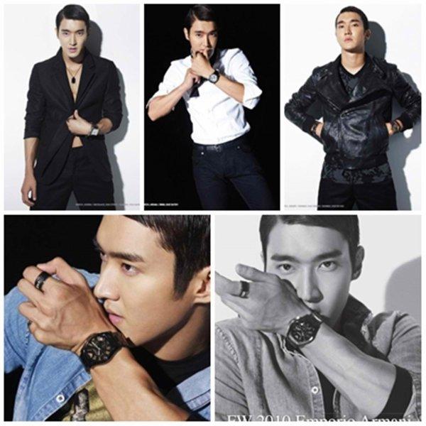 13/11/2010 Choi Siwon des Super Junior devient mannequin pour les montres de la marque Emporio Armani, saison hiver 2010