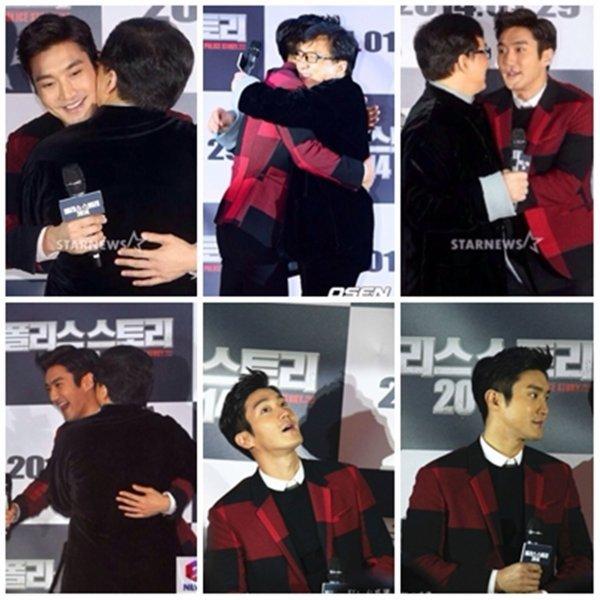 Siwon a l'avant première du film de Jackie Chan Police Story le 18 Janvier 2014