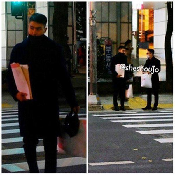 Siwon et Donghae repérés traversant la route