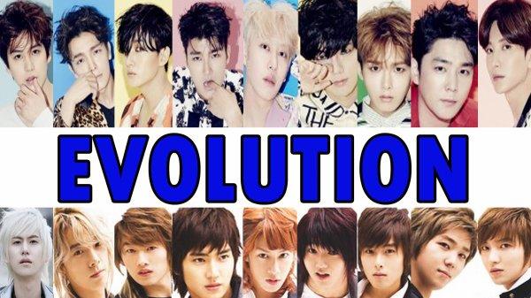 L'évolution des Super Junior