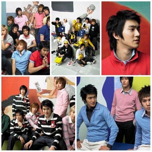 Siwon et les Super Junior NII Spring Collection 2007