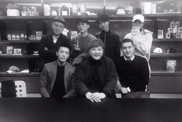 Mise a jour du Compte Instagram de Siwon avec les membres des Super Junior