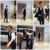 Siwon arrivant a Sum Cafe