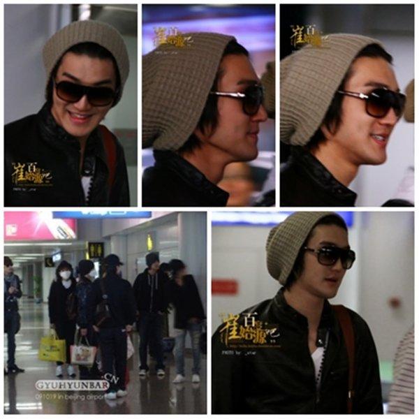 19 Octobre 2009 Les Super Junior M a l'aéroport de Beijing en Chine