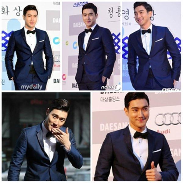 Siwon a l'événement Blue Dragon Award le 18 Aout 2014