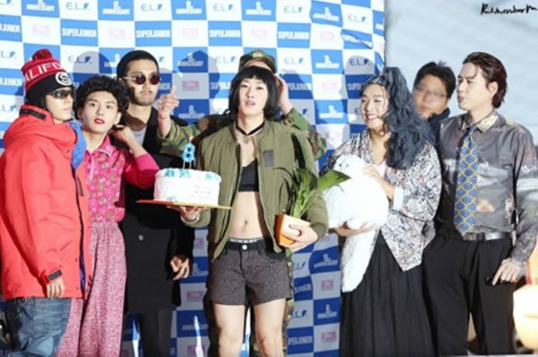 Super Junior Fashion Show Event a  Incheon Airport pour le mexique pour les 8 ans du groupe nomevre 2013
