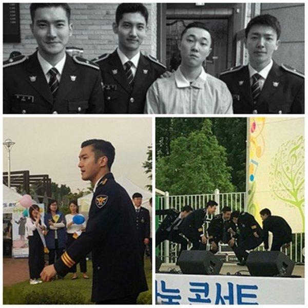 Siwon, Donghae et Changmin a un événement de la police