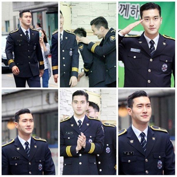 Siwon a un événement de la Police de Séoul dans un Hopital