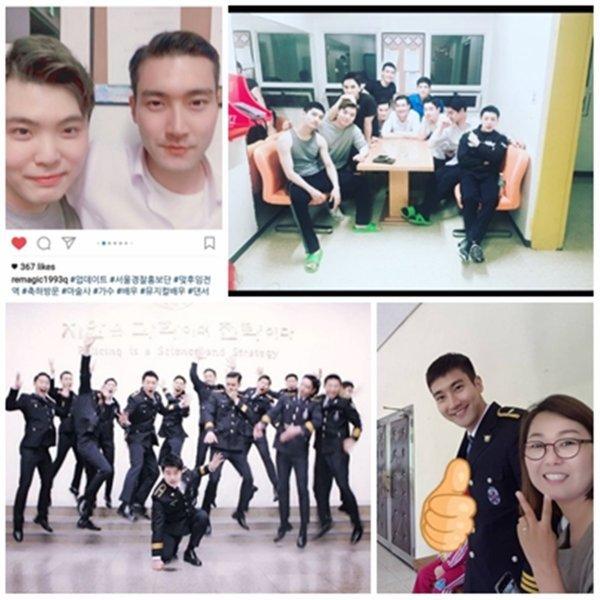 Siwon sur différent compte Instagram