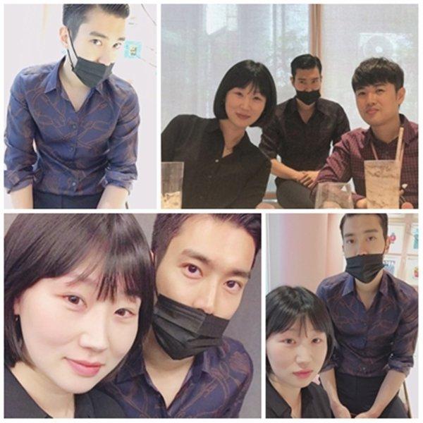 Siwon sur le compte Instagram de sa styliste et sur le compte Instagram d'autre personne
