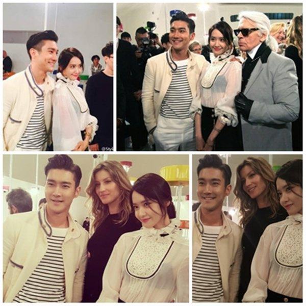 Siwon été au défile Chanel le 4 Mai 2015