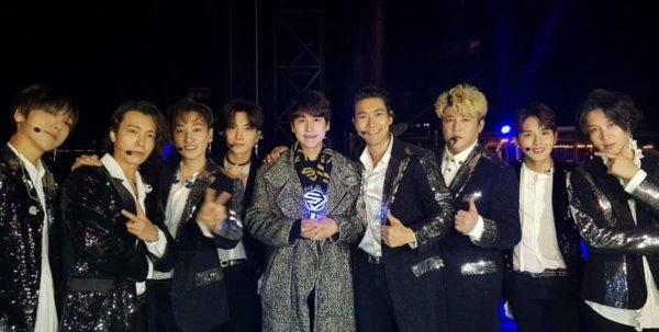 Super Junior lors du Super Show au Japon