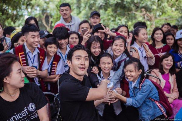 UNICEF Vietnam a laissé un message d'anniversaire à Si Won sur ses SNS