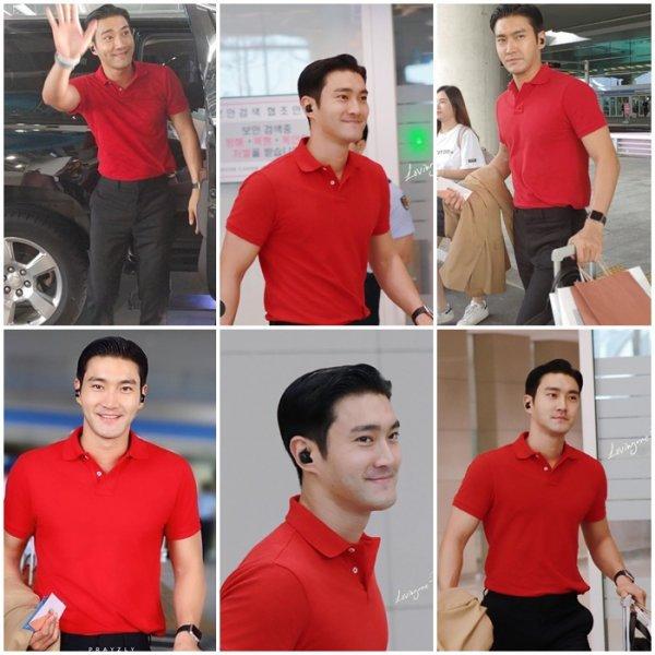 Siwon a l aeroport de retour en Corée