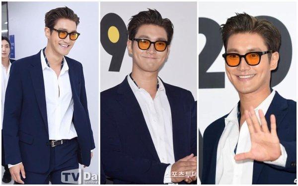 Siwon avec les Super Junior lors de la cérémonie de clôture de ''2019 K-World Festa''