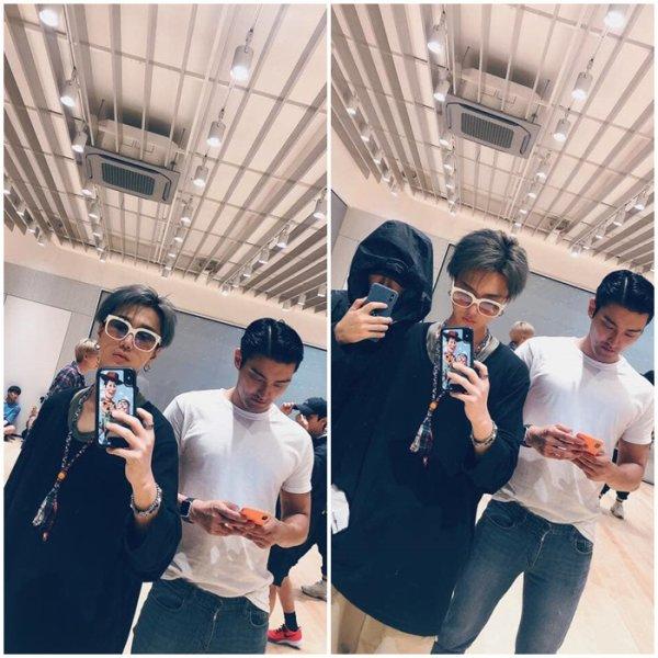 Mise a jour du compte Twitter de Siwon avec son père en legende merci papa